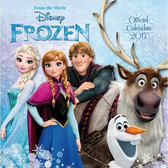 Plaatjes kalender Frozen 2017