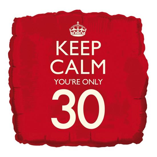 30e verjaardag folie ballon vierkant