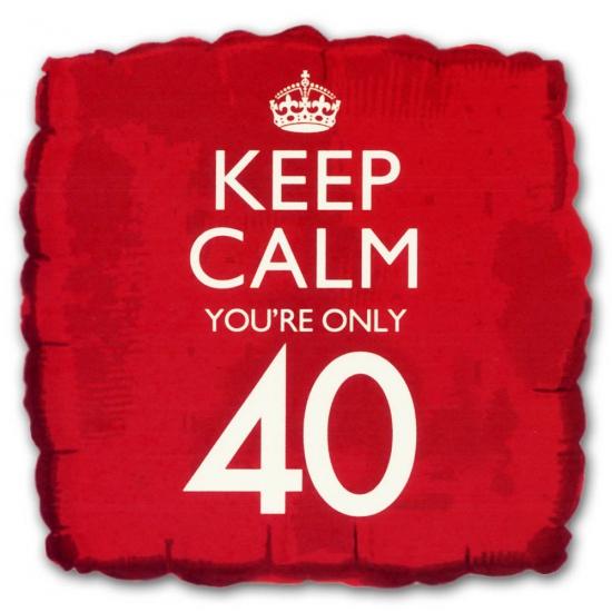 40e verjaardag folie ballon vierkant