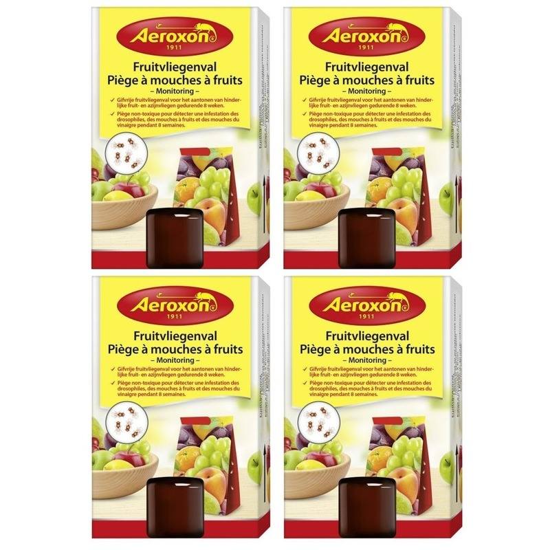4x Aeroxon fruitvliegjesvallen 40 ml