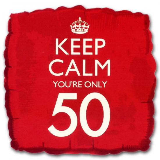 50e verjaardag folie ballon vierkant