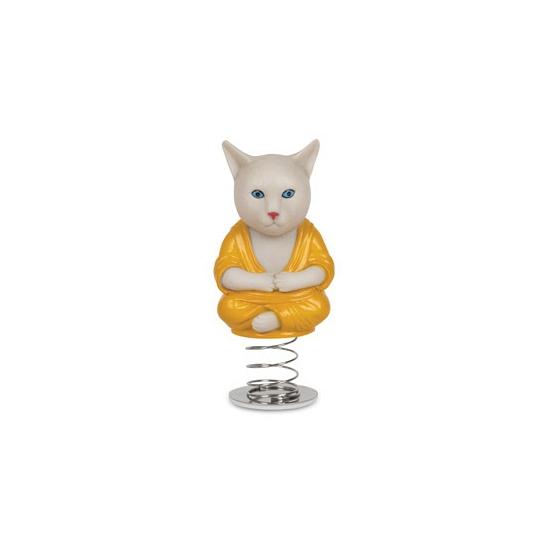 Auto deco poppetje katten monnik