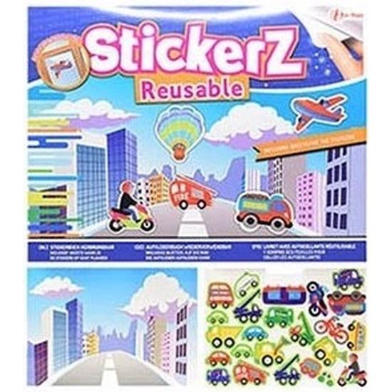Autoraam stickers boek verkeer thema