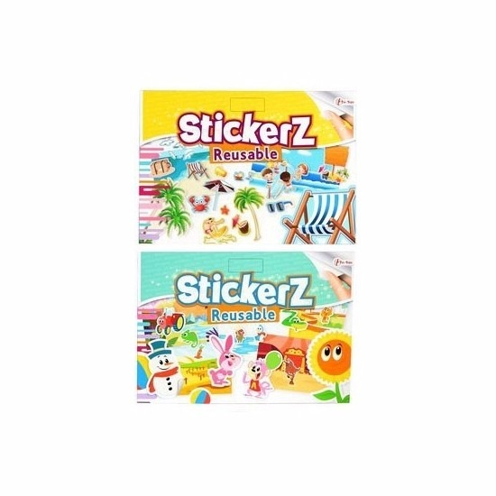 Autoraam stickers set strand/dieren thema