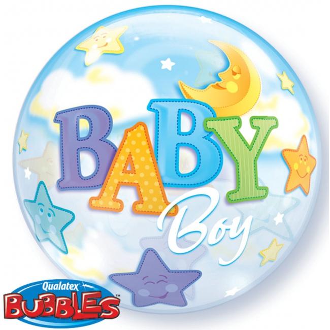 Ballon van helium voor geboorte jongetje