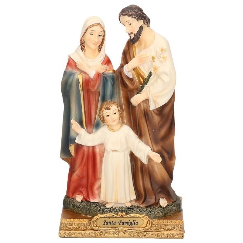 Beeldje met religieuze iconen Maria - Jezus en Jozef 15 cm