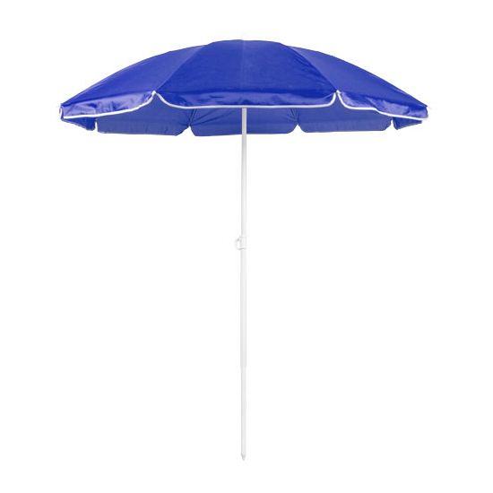 Blauwe strand parasol van nylon 150 cm