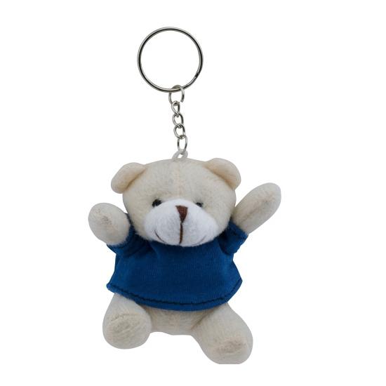 Blauwe teddybeer sleutelhanger 8 cm
