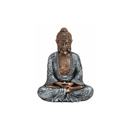 Boeddha tuinbeelden 23 cm