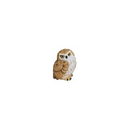 Bruin polystone uilen beeldje 11 cm