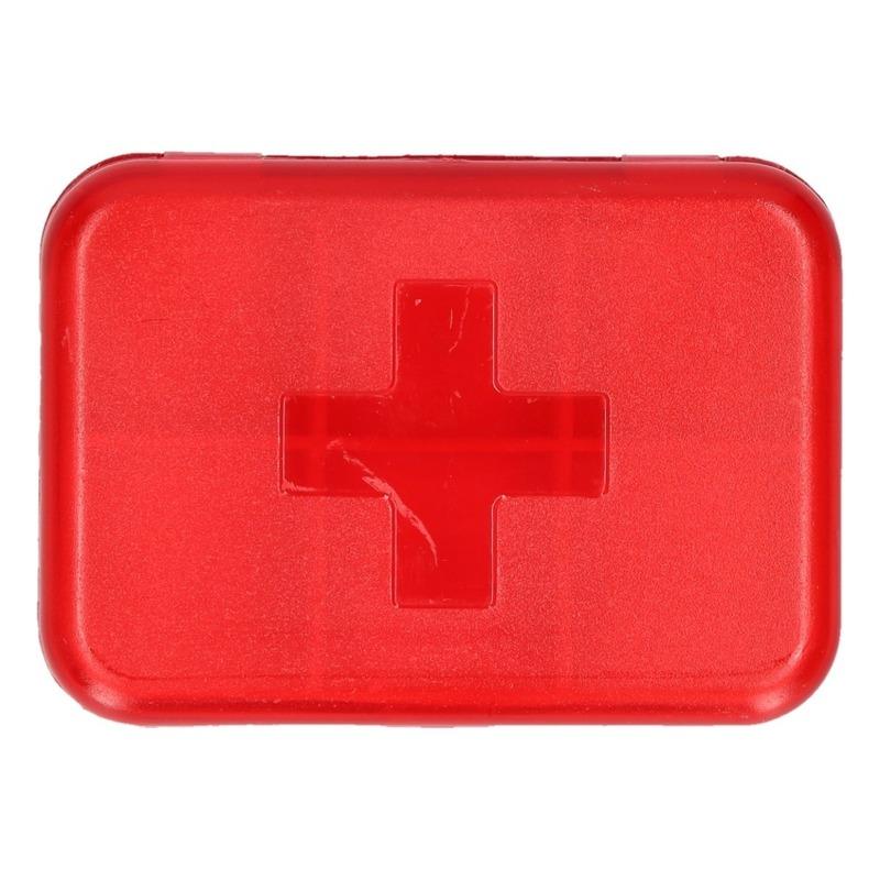Compact pillendoosje - medicijndoos 6 vakken