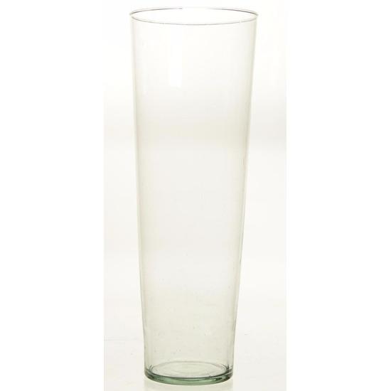 Conische vaas glas 50 cm