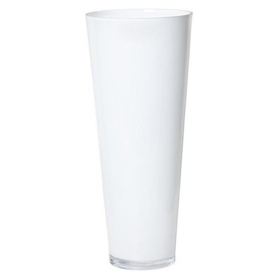 Conische vaas wit glas 43 cm