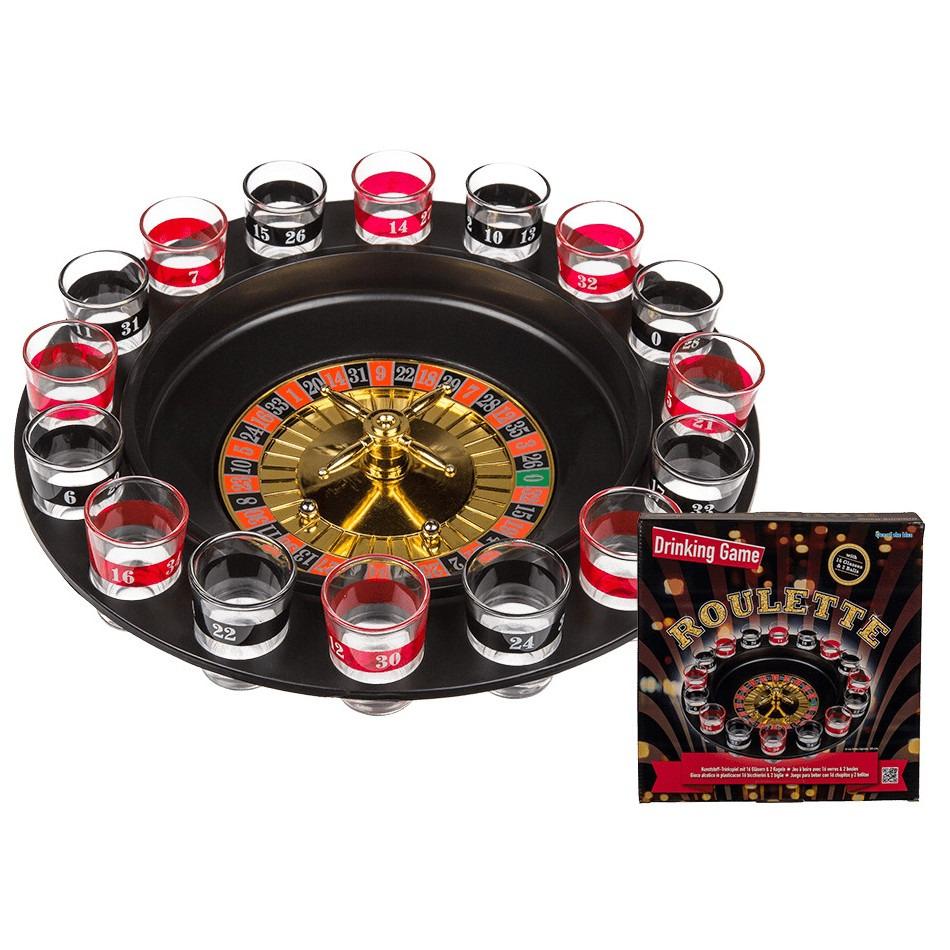 Drankspel/drinkspel shot roulette 30 cm