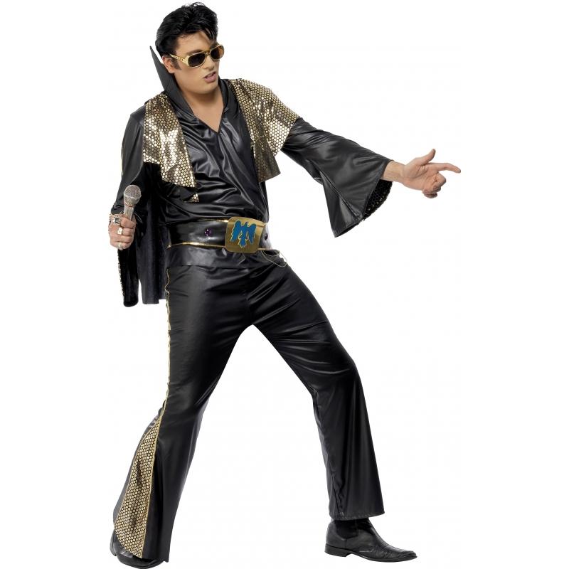 Elvis pak zwart/goud volwassenen