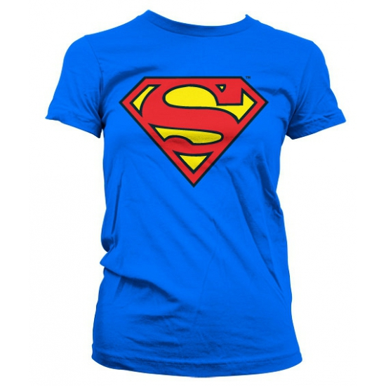 Feest Superman logo dames shirt