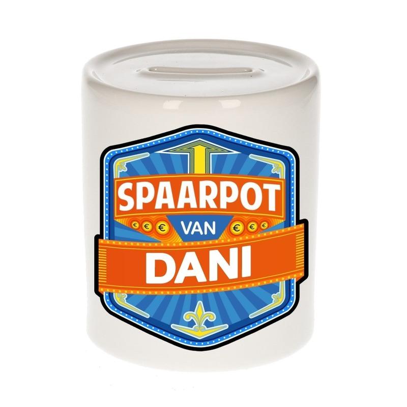 Gekleurde Dani spaarpotten voor kinderen