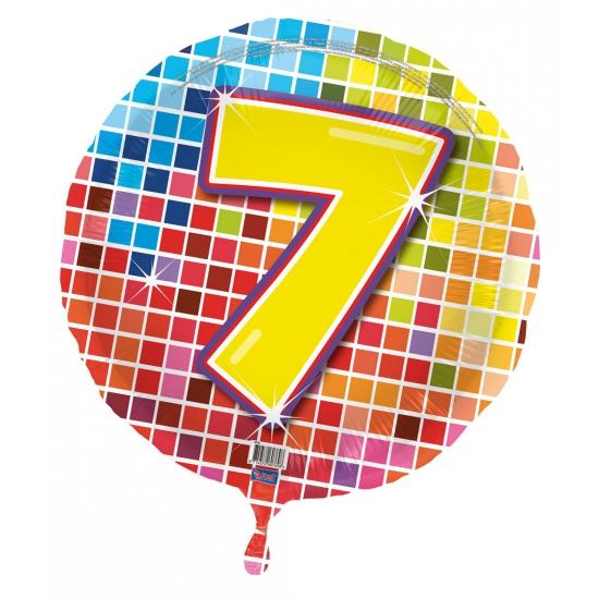 Gekleurde folieballon 7 jaar