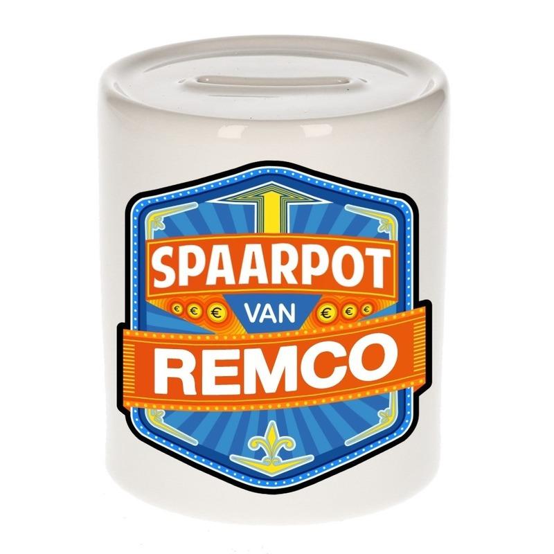 Gekleurde Remco spaarpotten voor kinderen