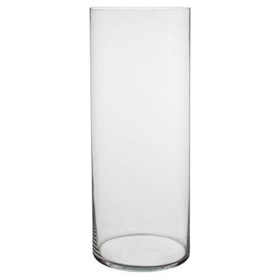 Glazen cilinder vaas 70 cm