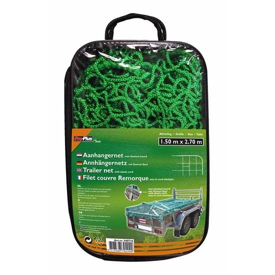 Groen elastisch aanhangwagen afdekhoes 150 x 270 cm