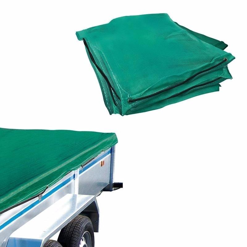 Groen elastisch aanhangwagen afdekhoes 200 x 300 cm
