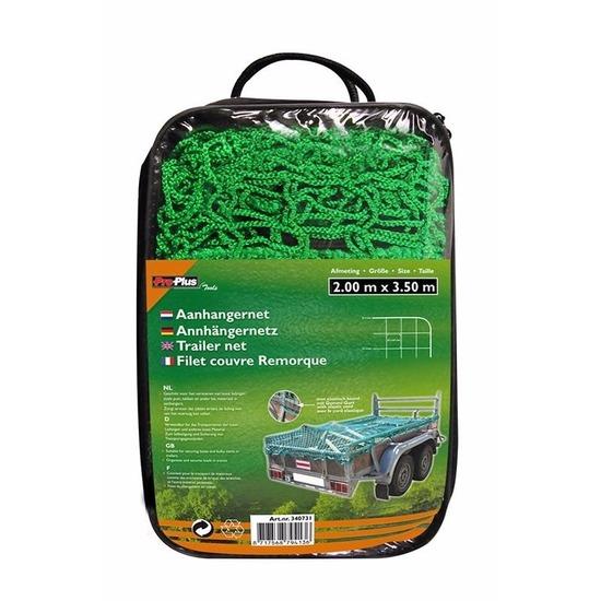 Groen elastisch aanhangwagen afdekhoes 200 x 350 cm