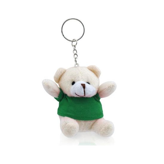 Groene teddybeer sleutelhanger