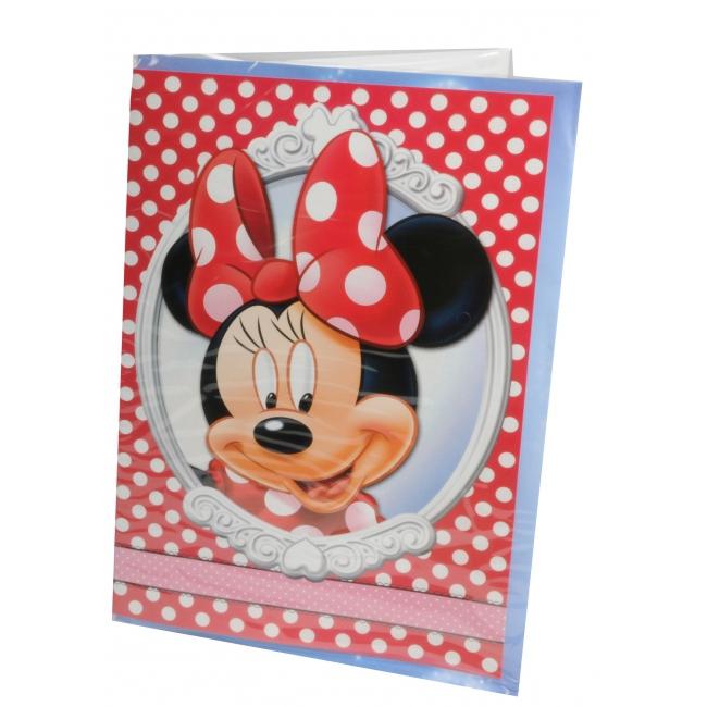 Grote Minnie Mouse verjaardagskaarten