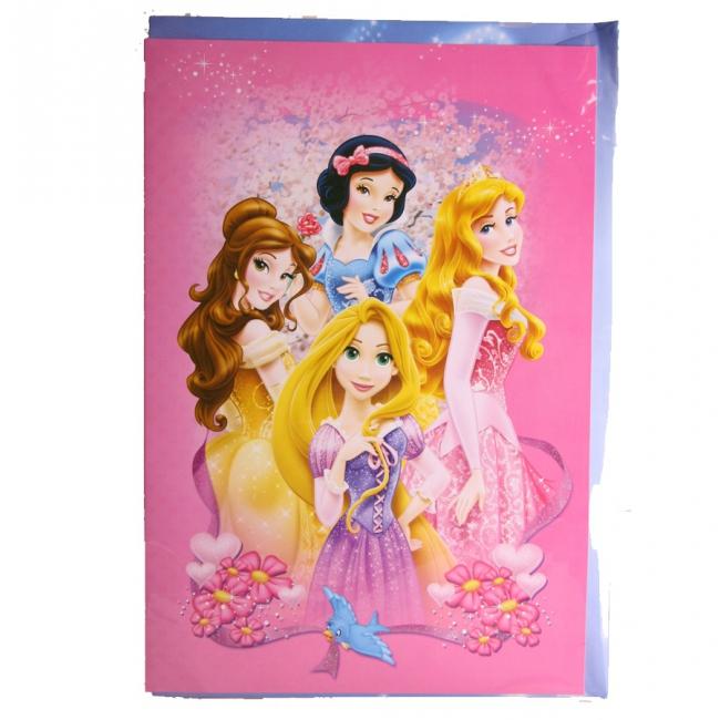 Grote verjaardagskaarten Princess 26 cm
