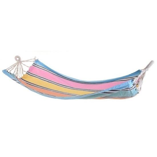 Hangmat blauwe rand 255 cm
