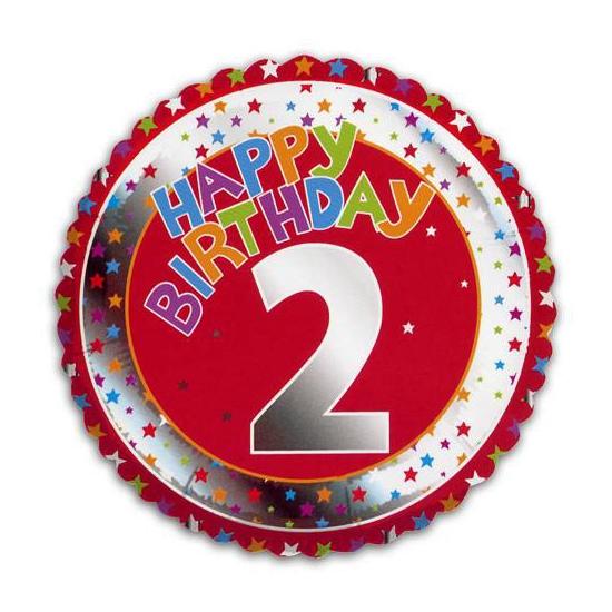 Happy Birthday helium ballonnen 2 jaar