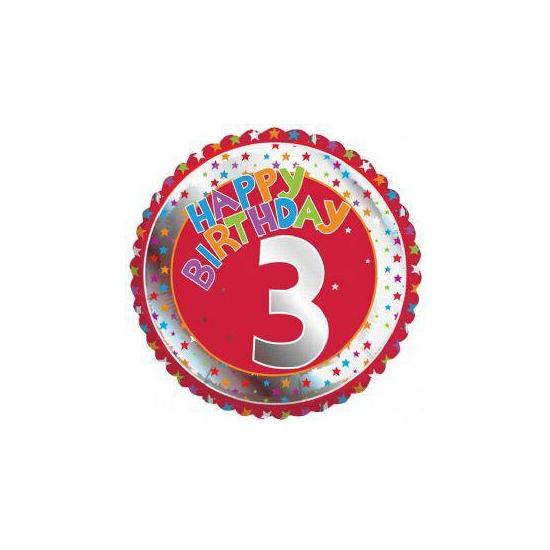 Happy Birthday helium ballonnen 3 jaar