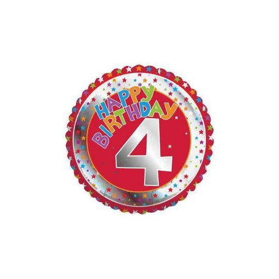 Happy Birthday helium ballonnen 4 jaar