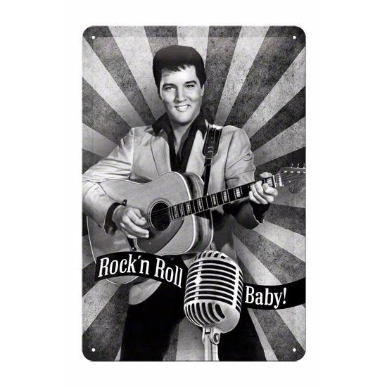 Hollywood thema Muurdecoratie Rock n Roll Baby 20 x 30 cm