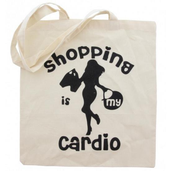Katoenen hipster tasje Cardio shopping