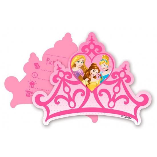 Kinderfeest uitnodigingen Princess
