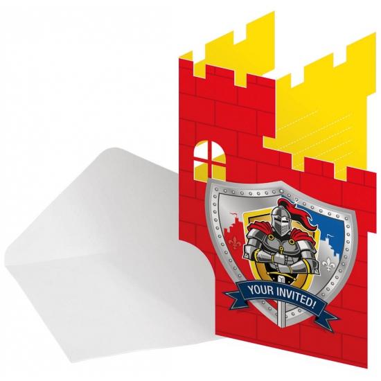 Kinderpartijtje uitnodigingen ridder thema