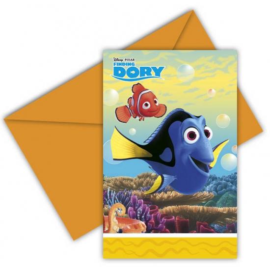 Kinderverjaardag Finding Dory uitnodigingen