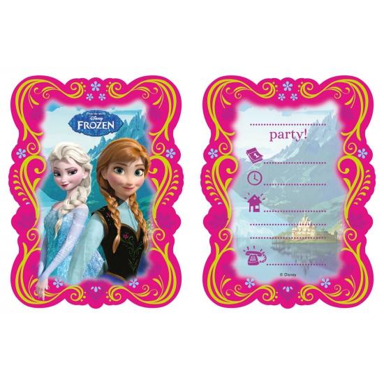 Kinderverjaardag Frozen uitnodigingen