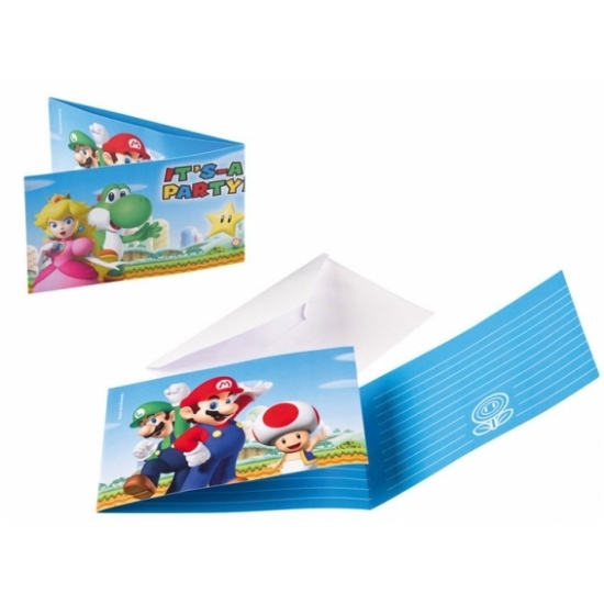 Kinderverjaardag Super Mario uitnodigingen