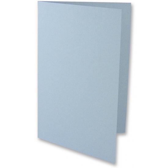Lichtblauwe onbedrukte uitnodigingskaarten 5x