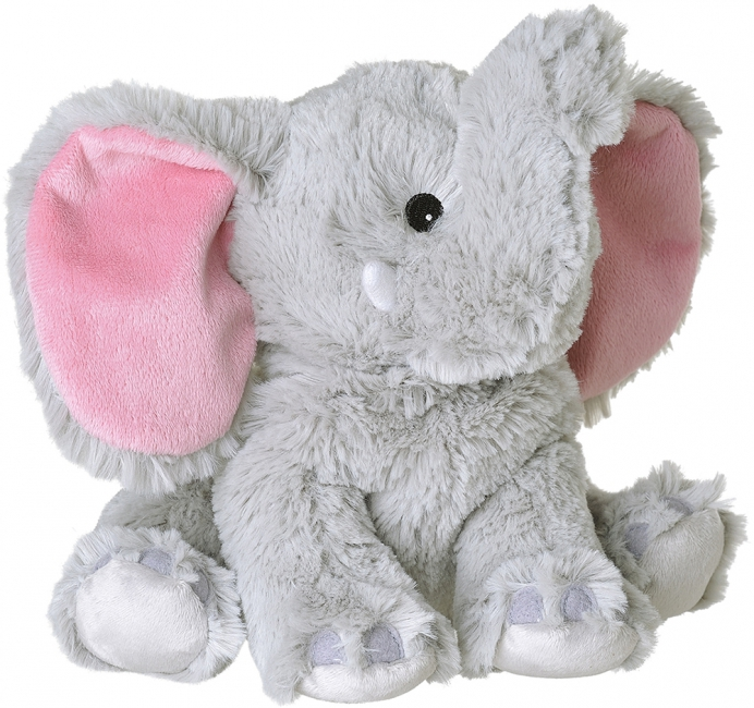 Magnetron warmte knuffel olifant grijs 29 cm