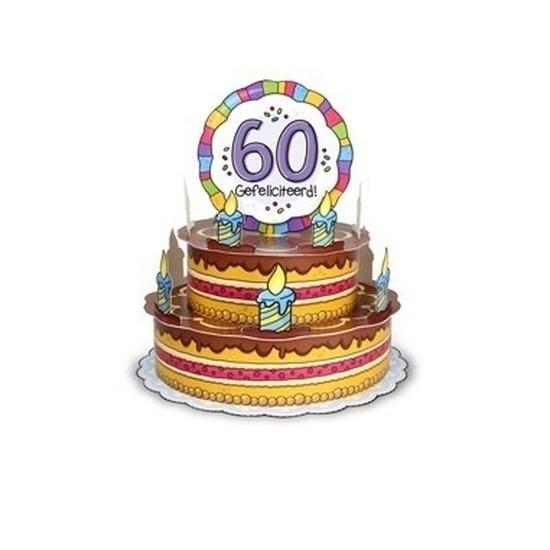 Mega 3D taart kaart Sarah 60 jaar