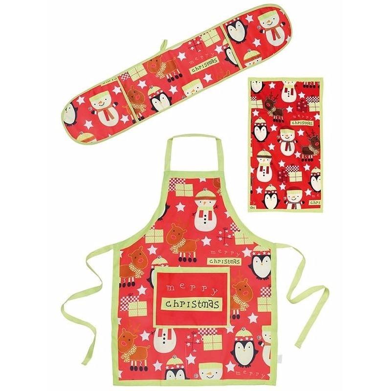 Merry Christmas keukentextiel set 3-delig