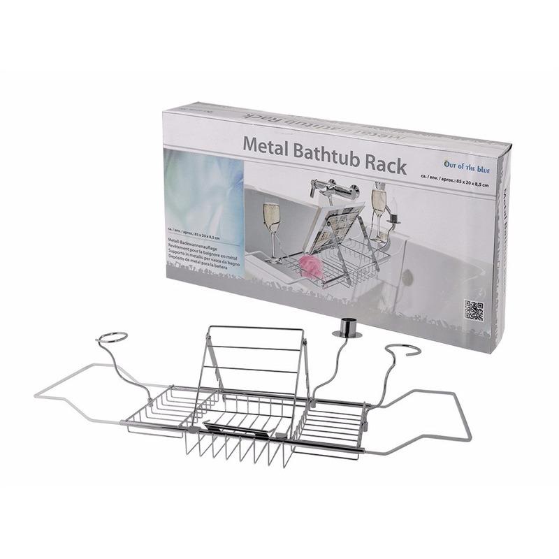 Metalen badrekje met houders