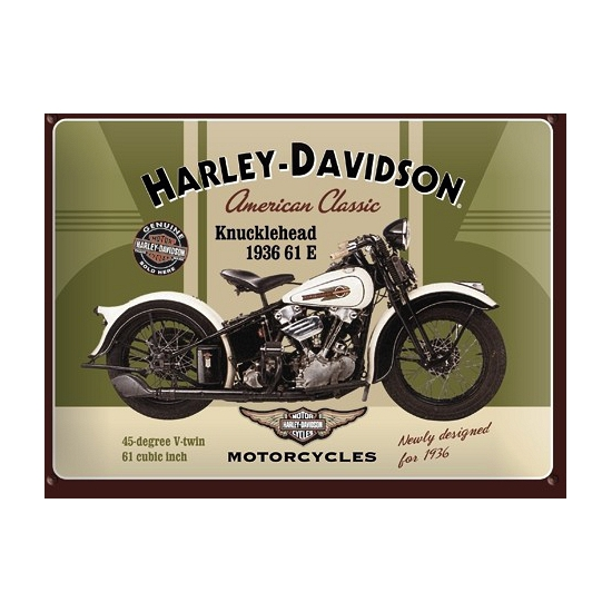 Muurplaatje Harley Davidson 15 x 20 cm