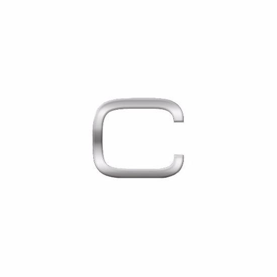 Namen stickers letter C van 2,5 cm