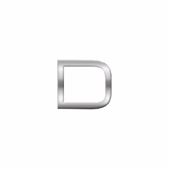 Namen stickers letter D 2,5 cm