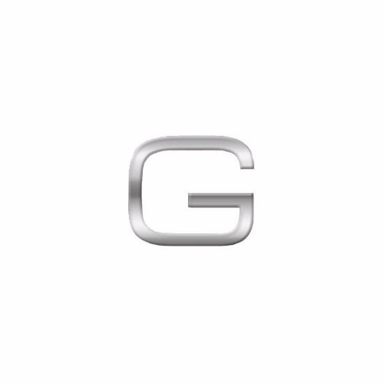 Namen stickers letter G van 2,5 cm